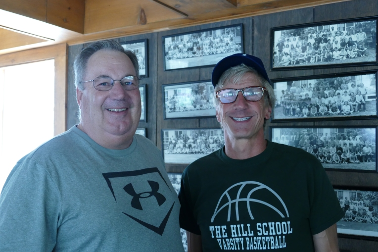 Latin teacher Tim Stark and Chris Northrup '78